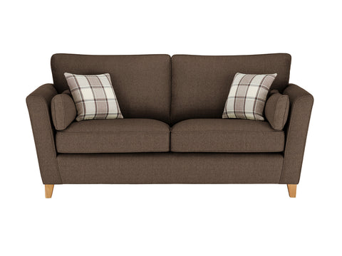 Ashleigh Large Sofa in Dash Mocha with Alderney Check Scatters