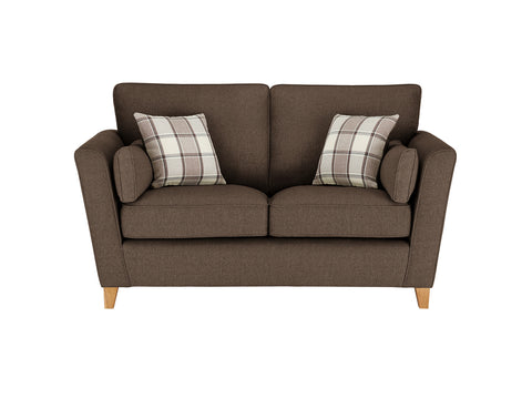 Ashleigh Medium Sofa in Dash Mocha with Alderney Check Scatters