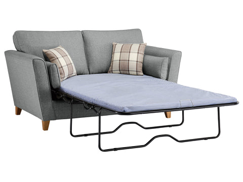 Ashleigh Medium Standard Sofa Bed in Dash Angora with Alderney Check Scatters