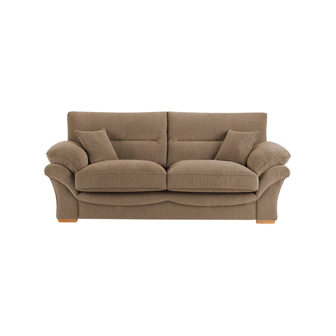 Chloe Large Sofa High Back in Logan Fabric - Beige