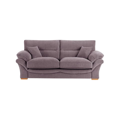 Chloe Large Sofa High Back in Logan Fabric - Grey