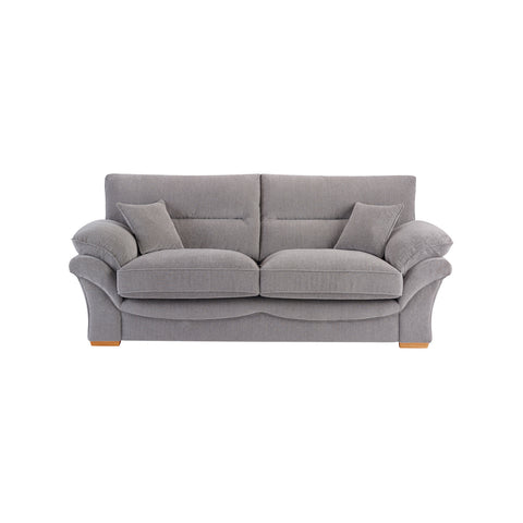 Chloe Large Sofa High Back in Logan Fabric - Silver