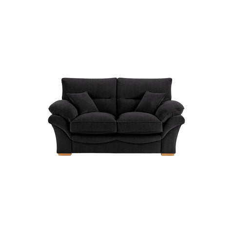 Chloe Medium Sofa High Back in Logan Fabric - Black