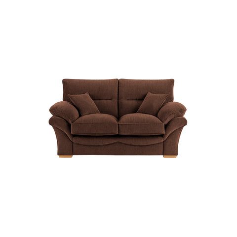 Chloe Medium Sofa High Back in Logan Fabric - Brown