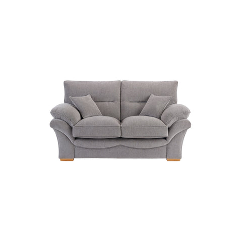 Chloe Medium Sofa High Back in Logan Fabric - Silver