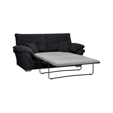 Chloe Medium Standard Sofa Bed in Logan Fabric - Black
