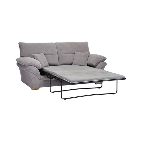 Chloe Medium Standard Sofa Bed in Logan Fabric - Silver