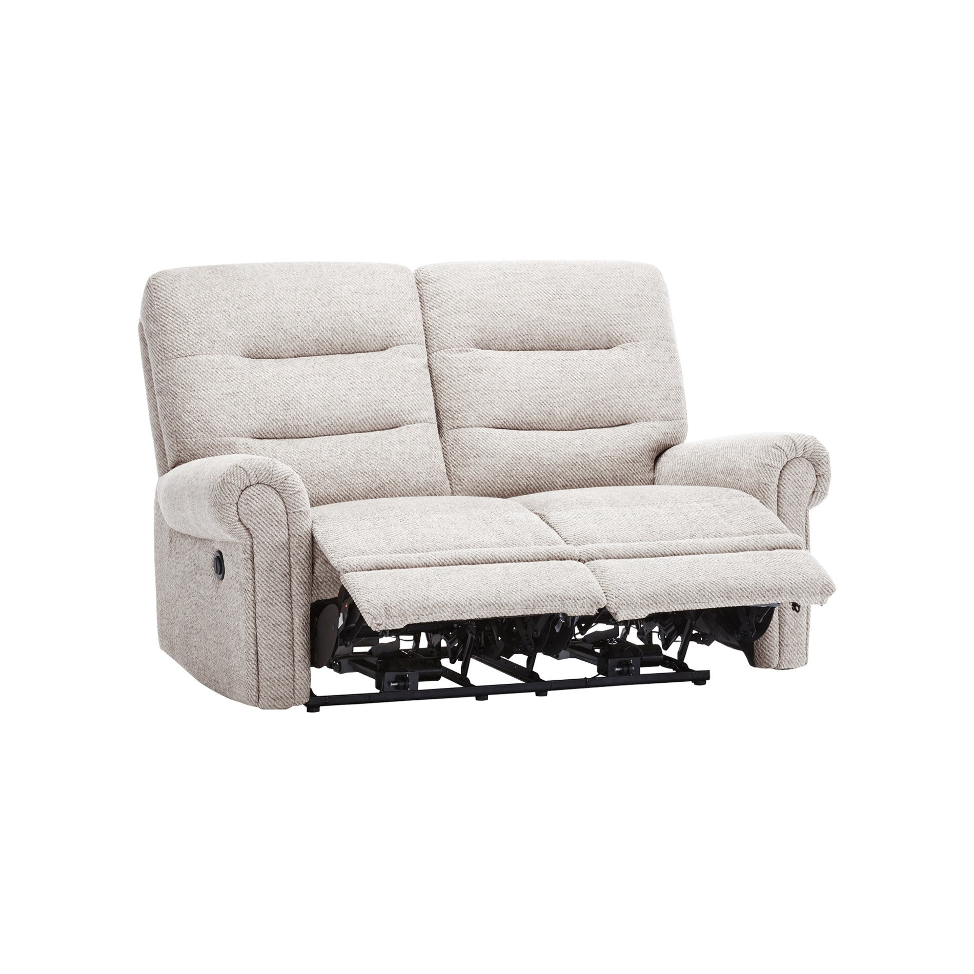 Eastbourne Electric Reclining 2 Seater Sofa Silver Fabric – Sofa