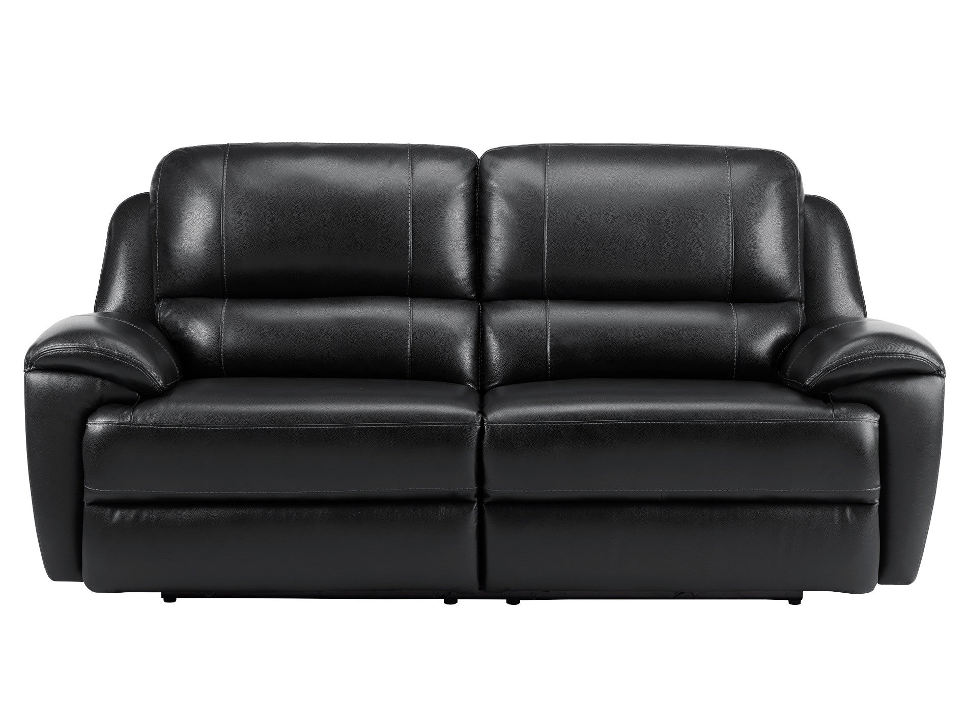 Finley Sofa with 2 Electric Recliners Black Leather – Sofa