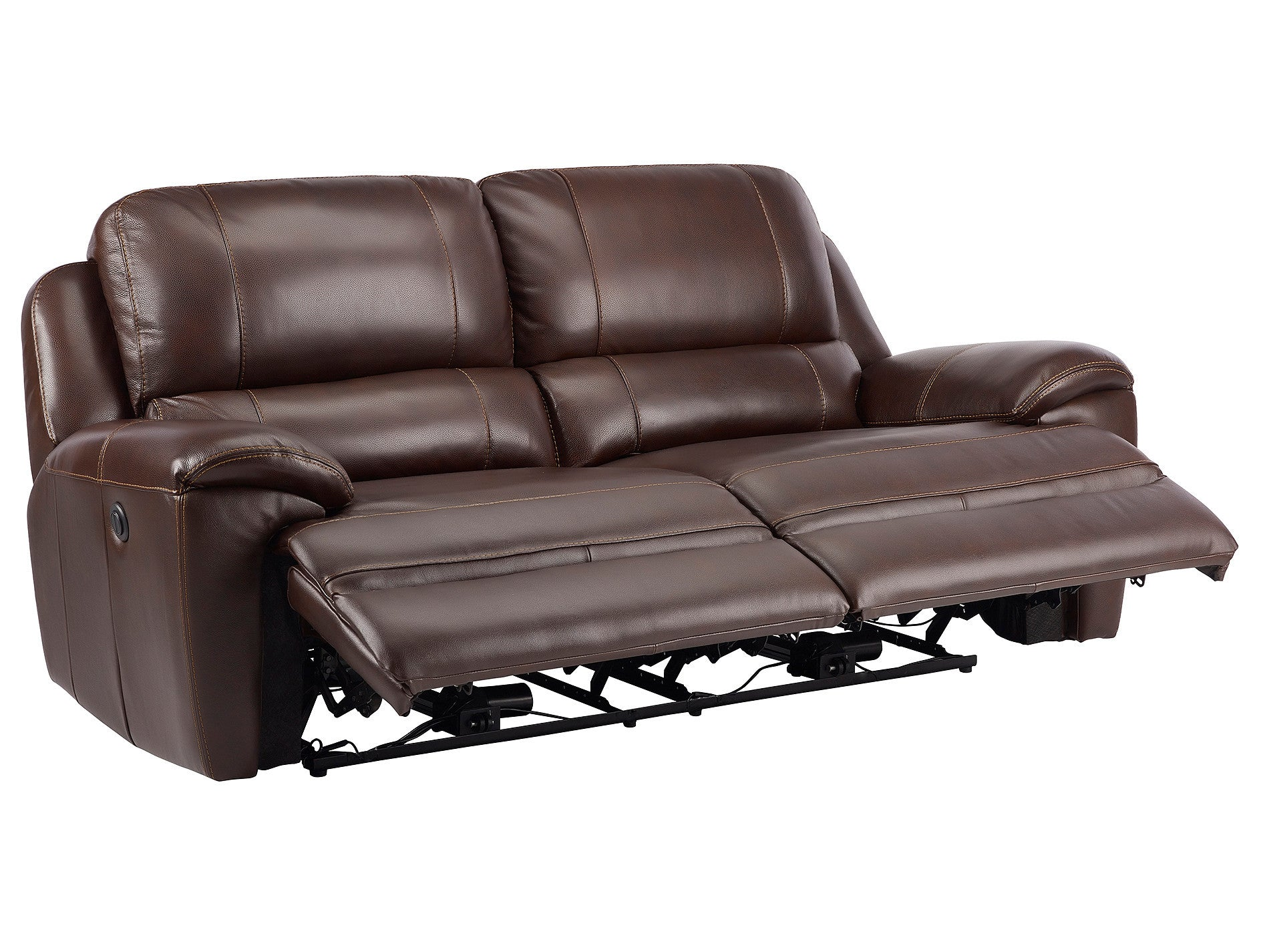Finley Sofa with 2 Electric Recliners Brown Leather – Sofa