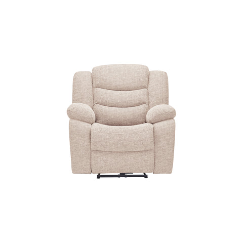 Grayson Electric Recliner Armchair- Oatmeal Fabric