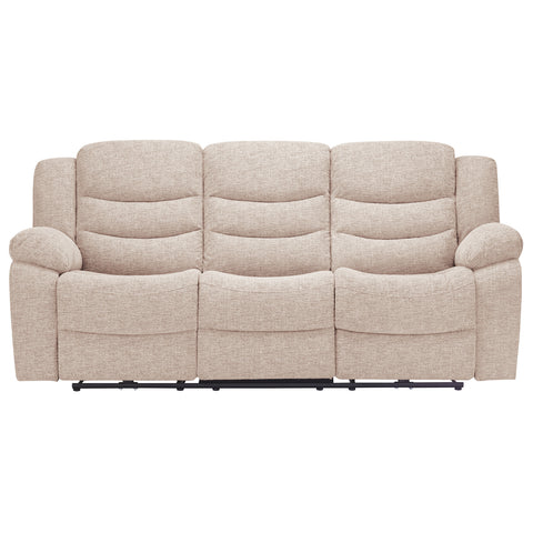 Grayson 3 Seater Electric Recliner Sofa - Oatmeal Fabric