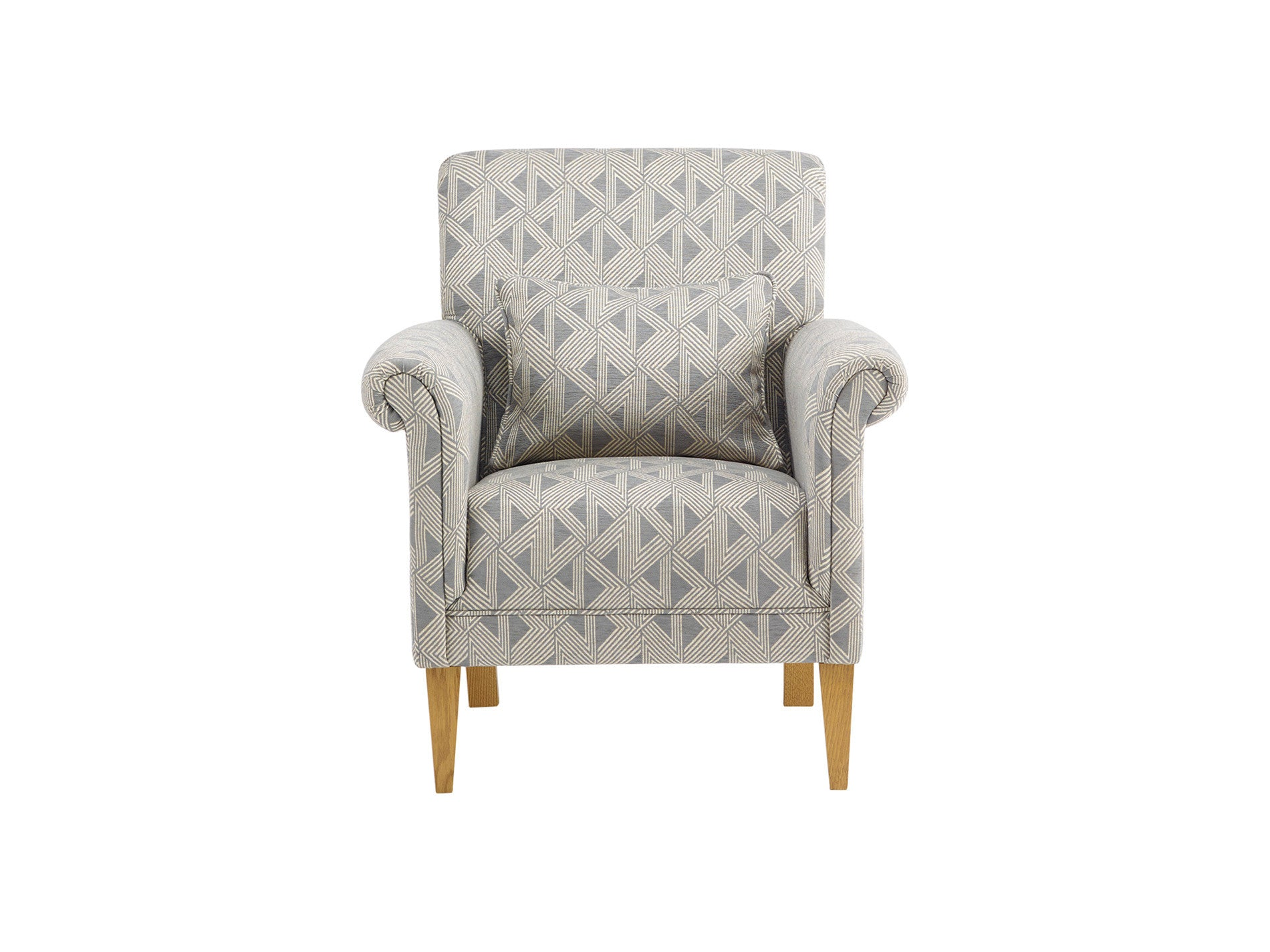 Jasmine Accent Chair in Bamboo Slate Fabric – Sofa Store Spain