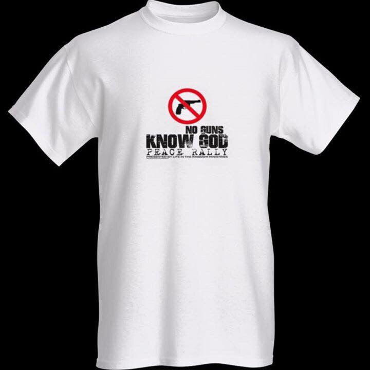 NO Guns Know God T-Shirt