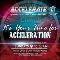 It's Your Time for Acceleration