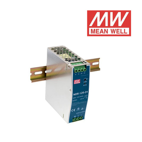ALIMENTATORE MEAN WELL AC/DC Enclosed DIN RAIL 120W 12Vdc 10A NDR-120-12