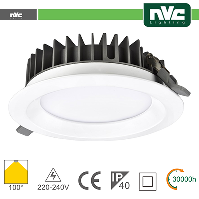 Downlight LED 15/20/30W IP40 100º
