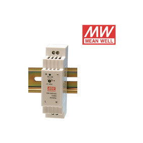 ALIMENTATORE SWITCHING MEAN WELL per GUIDA DIN 12Vdc 15W 1.66A DR-15-12