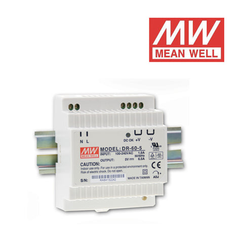 ALIMENTATORE SWITCHING MEAN WELL per GUIDA DIN 12Vdc 60W 4.5A DR-60-12