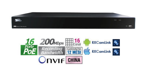 NVR standalone 16 CH POE