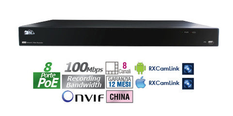 NVR standalone 8 CH POE