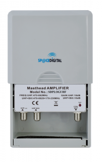 Amplificatore da palo 2 ingressi LOG/UHF 10dB