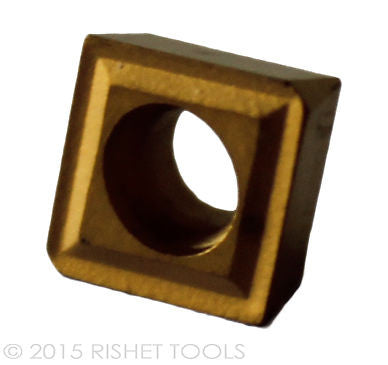 RISHET TOOLS CPGT 21.51 C5 Multi Layer TIN Coated Carbide Inserts (10 PCS)