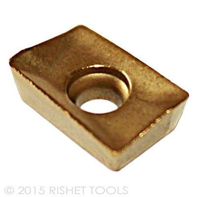 RISHET TOOLS APKT 1003 PDR-HM C5 Multi Layer TIN Coated Carbide Inserts (10 PCS)