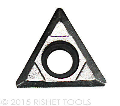 RISHET TOOLS TCGX / TCGT 21.50 High Polish turning Inserts for Aluminum(10 PCS)