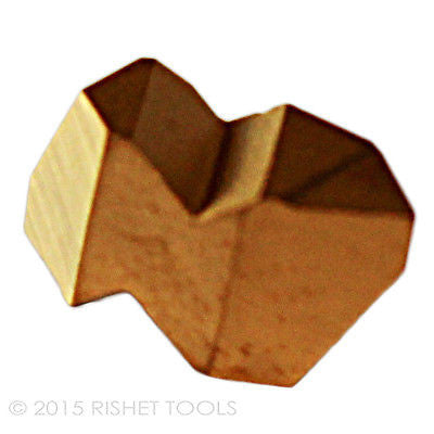 RISHET TOOLS NTP 2R C5 Multi Layer TiN Coated Carbide Inserts (10 PCS)