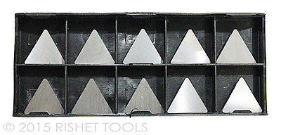 RISHET TOOLS TPG 321 C5 Uncoated Carbide Inserts (10 PCS)
