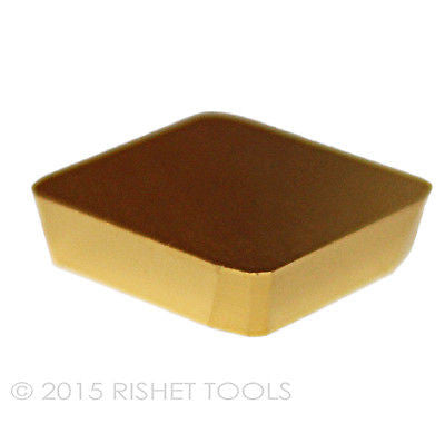 RISHET TOOLS SPKN 43 EDR / SPKN 1204 EDR TiN Coated Carbide Inserts (10 PCS)
