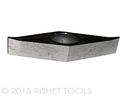 RISHET TOOLS VCGX / VCGT 221 High Polish turning Inserts for Aluminum (10 PCS)