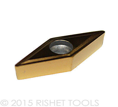 RISHET TOOLS VBMT 221CF C5 Multi Layer TiN Coated Carbide Inserts (10 PCS)