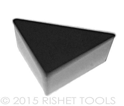 RISHET TOOLS TPG 222 C5 Uncoated Carbide Inserts (10 PCS)