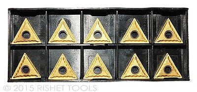 RISHET TOOLS TNMG 321 C5 Multi Layer TiN Coated Carbide Inserts (10 PCS)