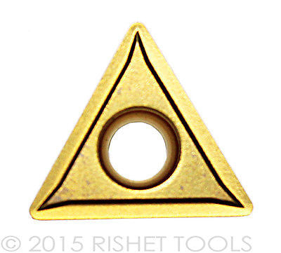 RISHET TOOLS TCMT 432 C5 Multi Layer TiN Coated Carbide Inserts (10 PCS)
