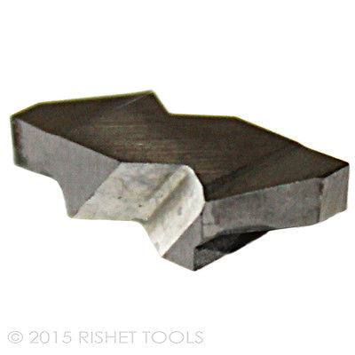RISHET TOOLS NG 2094R C2 Uncoated Notched Grooving Carbide Inserts (10 PCS)