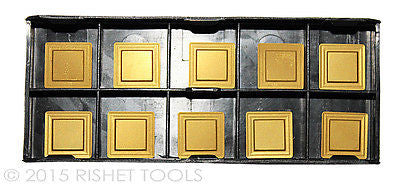 RISHET TOOLS SPMR 322 C5 Multi Layer TiN Coated Carbide Inserts (10 PCS)