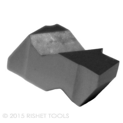 RISHET TOOLS NG 2125L C5 Uncoated Notched Grooving Carbide Inserts (10 PCS)