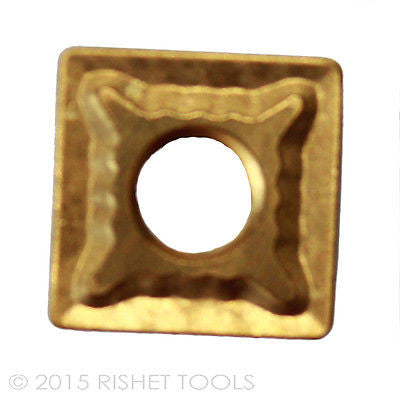 RISHET TOOLS SNMG 432 C2 Multi Layer TiN Coated Carbide Inserts (10 PCS)