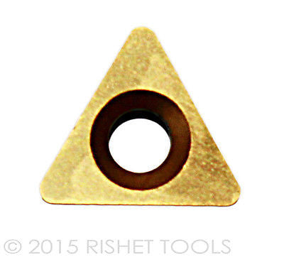 RISHET TOOLS TPGB 221 C5 Multi Layer TiN Coated Carbide Inserts (10 PCS)