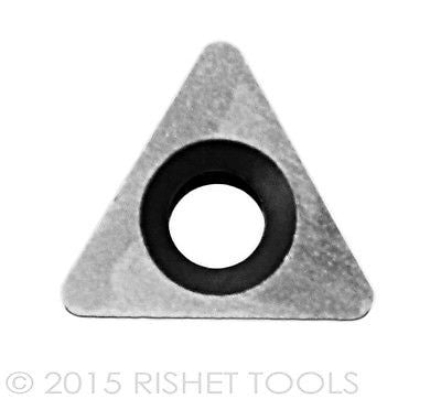 RISHET TOOLS TPGB 222 C5 Uncoated Carbide Inserts (10 PCS)