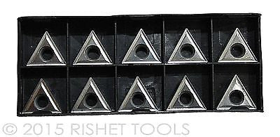 RISHET TOOLS TCMT 32.52 C2 Uncoated Carbide Inserts (10 PCS)