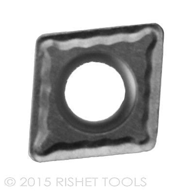 RISHET TOOLS CPMT 32.51 C5 Uncoated Carbide Inserts (10 PCS)