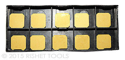 RISHET TOOLS SEAN-42 AFTN C5 Multi Layer TiN Coated Carbide Inserts (10 PCS)