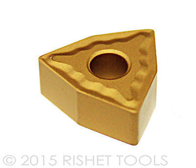 RISHET TOOLS WNMG 432 C5 Multi Layer TiN Coated Carbide Inserts (10 PCS)