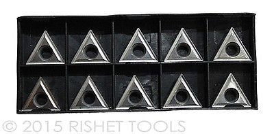 RISHET TOOLS TCMT 32.505 C5 Uncoated Carbide Inserts (10 PCS)