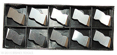 RISHET TOOLS NTP-3R C2 Multi Layer TiN Coated Carbide Inserts (10 PCS)