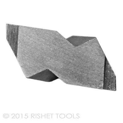 RISHET TOOLS NG 2031R C2 Uncoated Notched Grooving Carbide Inserts (10 PCS)